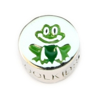 Original COOL KIDS Charm FROSCH in 925 er Sterling Silber - emailliert